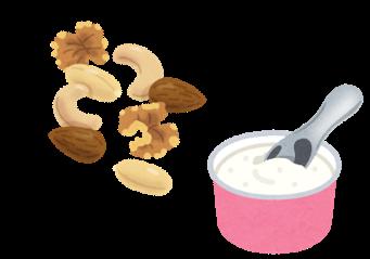 ナッツとアイスクリーム